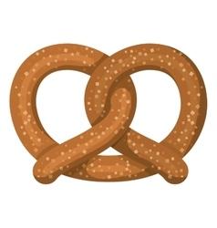 Delicious pretzel isolated icon vector