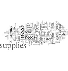 Disaster preparedness the essentials of emergency vector
