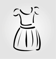 Drawing of a pinafore- apparel logo vector image