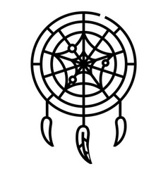 dreamcatcher line icon concept sign outline vector image