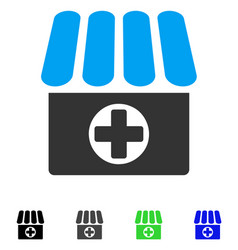 Drugstore flat icon vector