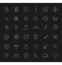 E-commerce linear icons set Chalk vector image