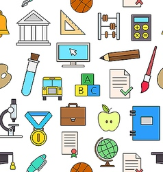 Education elements colorful pattern icons vector image