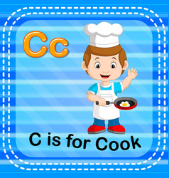 Flashcard letter c is for cook vector