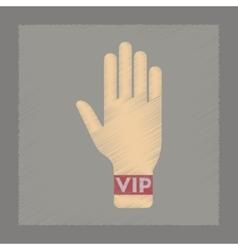 flat shading style icon hand VIP vector image