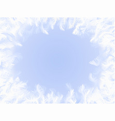 frozen window ornament vector image