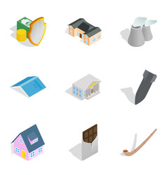 Fund available icons set isometric style vector