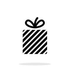 Gift box icon on white background vector image