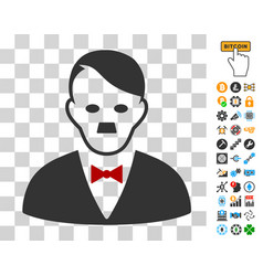 Hitler manager icon with bonus vector