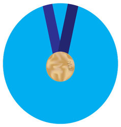 Icon bronze medal vector image