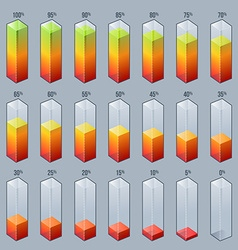infographic bar graph chart design elements vector image