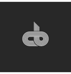 Initials cb logo monogram linked together c b vector