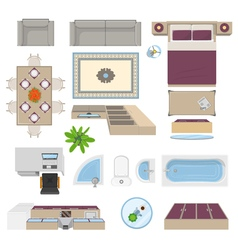 Interior Elements Top View Position vector