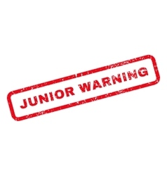 Junior Warning Text Rubber Stamp vector