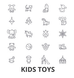 Kids toys playing baby toy children toy kids vector