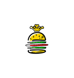 king burger logo design element vector image