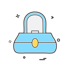 ladies bag icon design vector image