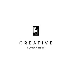 Letter h outline creative business logo vector