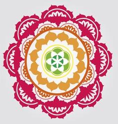 Lotus paradise mandala vector