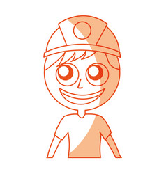 Male miner avatar character vector
