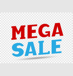 Mega sale message vector