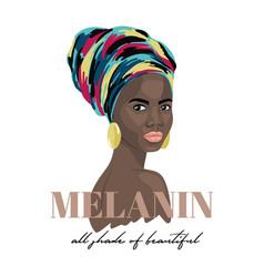 melanin all shade beautiful vector image