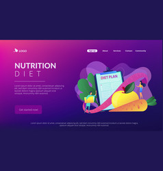 Nutrition diet concept landing page vector