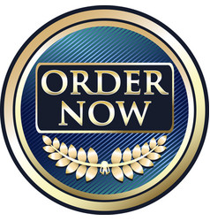 order now gold label vector image