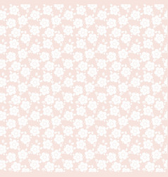 Pastel seamless floral repeat pattern design vector