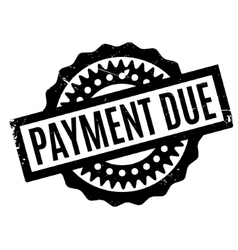 Payment Due rubber stamp vector