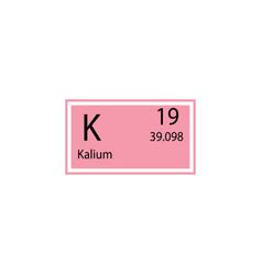 Periodic table element kalium icon element of vector