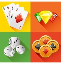 Poker icon in vector image