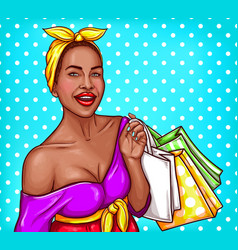 Pop art of a black woman vector