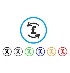 Refresh pound balance rounded icon vector