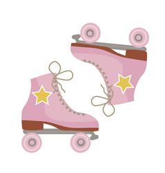 retro roller skates icon hipster style modern vector image