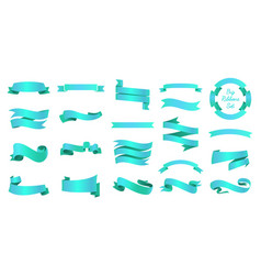 ribbons banners set and tape vector image