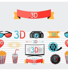 seamless pattern movie elements and cinema vector image