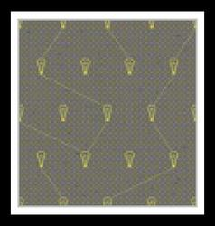 Seamless pattern with yellow lamps vector image
