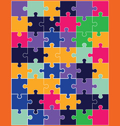 separate pieces of colorful puzzle vector image
