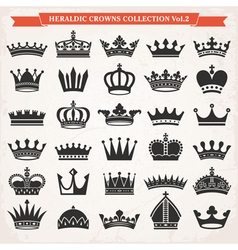 set crowns vector image