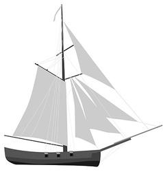Sloop ship vector
