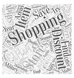 SM save money while shopping Word Cloud Concept vector