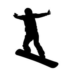 snowboard jump and flying athlete vector image