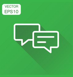 Speech bubble icon business concept discussion vector