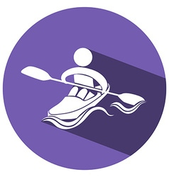 Sport icon design for kayaking vector