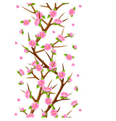 spring seamless pattern with branches of tree and vector image