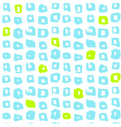 Square funky seamless pattern vector