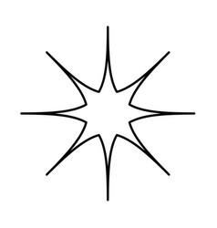 Star black icon vector