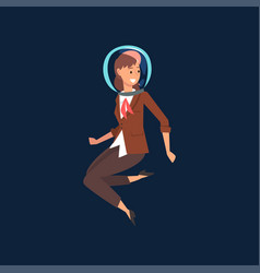 successful businesswoman in brown suit and vector image