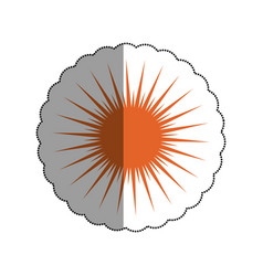 Sun burst element icon vector